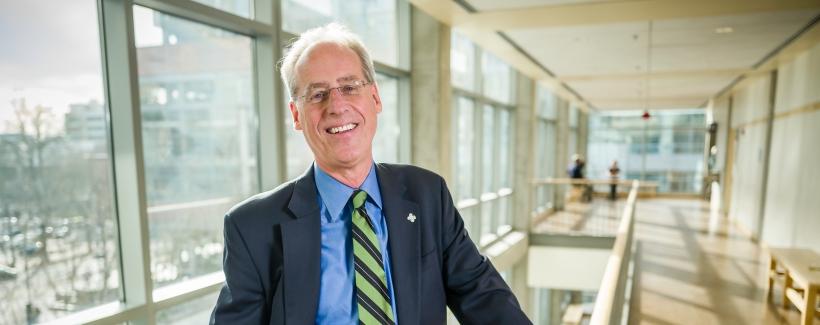 Portland State University President Wim Wiewel, PSU Campus, Portland, Oregon.