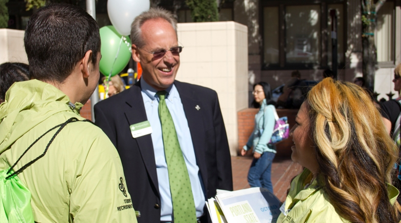 President Wim Wiewel at PSU at the Square, Portland State of Mind